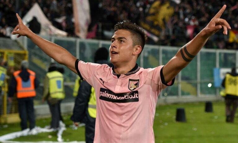 Con la maglia del Palermo