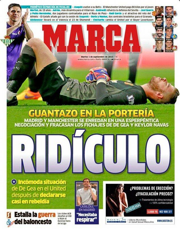La prima pagina di Marca